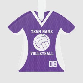 El voleibol se divierte púrpura del jersey con la