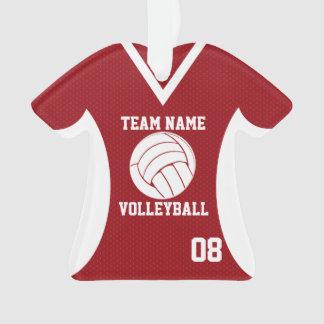 El voleibol se divierte rojo del jersey con la