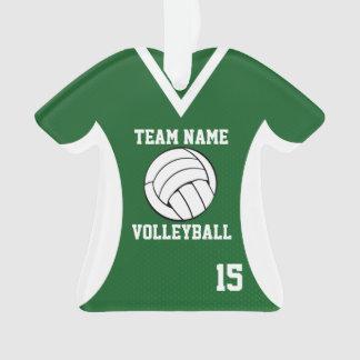 El voleibol se divierte verde del jersey con la