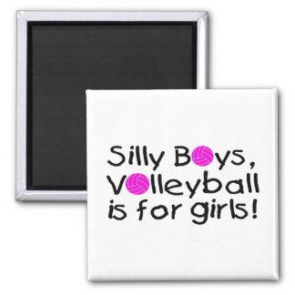 El voleibol tonto de los muchachos está para los c iman de nevera