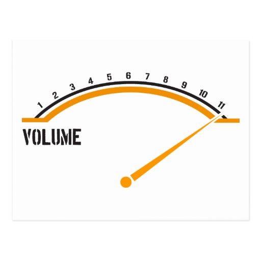 El volumen va a once postal