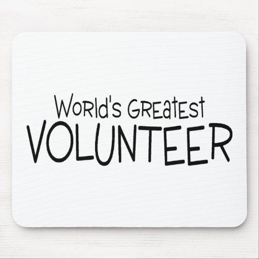 El voluntario más grande de los mundos alfombrilla de ratón