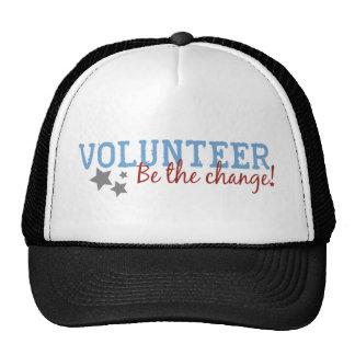 El voluntario sea el cambio gorro de camionero