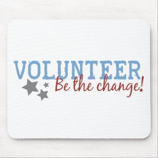 El voluntario sea el cambio tapetes de ratones