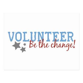 El voluntario sea el cambio postal