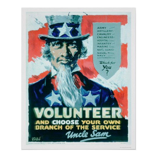 El voluntario y elige su rama (US02082) Póster