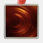 El vórtice anaranjado del viajero del tiempo ornaments para arbol de navidad