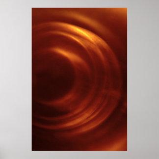El vórtice anaranjado del viajero del tiempo poster