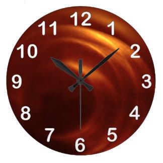 El vórtice anaranjado del viajero del tiempo reloj