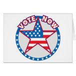 El voto ahora protagoniza tarjetas