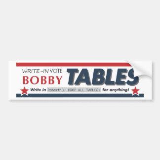 El voto Bobby presenta el bumpersticker Pegatina Para Auto