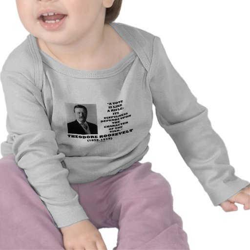 El voto de Theodore Roosevelt es como un carácter  Camiseta