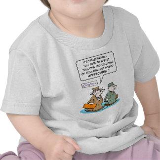 el voto del miembro del Congreso pasa trillones qu Camisetas