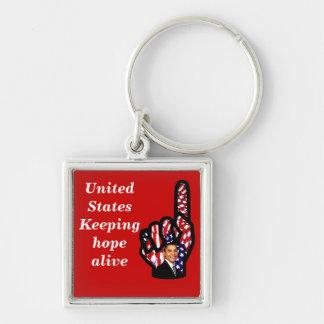 El voto para Barack Obama 2012, reelige Obama_ Llaveros Personalizados