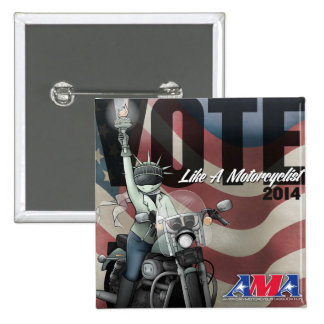 El voto tiene gusto de un motorista pin cuadrado