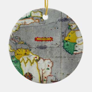 El voyadge indio del oeste del famouse hecho por adorno navideño redondo de cerámica