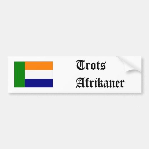 el vryheidsvlag, trota Afrikaner Etiqueta De Parachoque