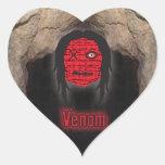 El vudú dirige la cueva del ~ colcomanias corazon