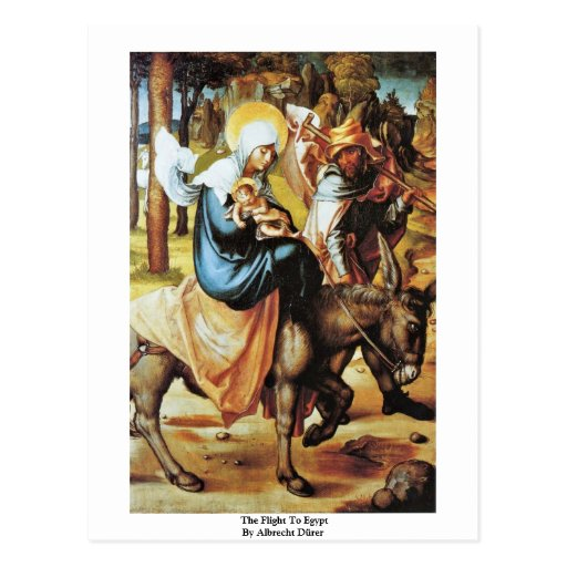 El vuelo a Egipto de Albrecht Dürer Tarjetas Postales