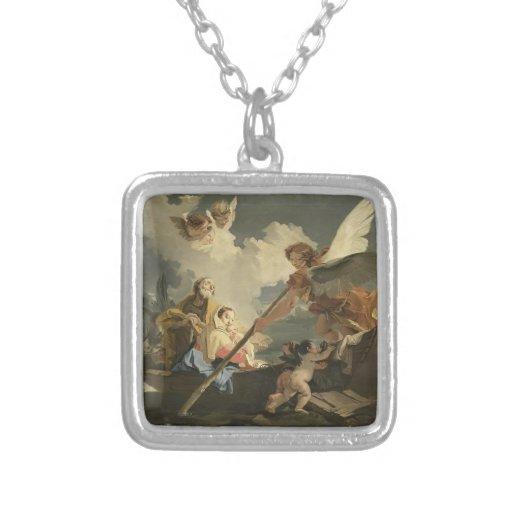 El vuelo a Egipto de Juan Battista Tiepolo Pendientes Personalizados