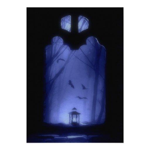 El vuelo azul misterioso de la noche golpea Hallow