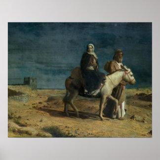 El vuelo de la espada de Herod, 1880 (aceite en c Póster
