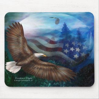 El vuelo de la libertad - arte Mousepad de Eagle Tapetes De Ratón