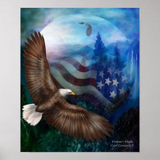 El vuelo de la libertad - poster impresión del art