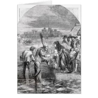 El vuelo de la reina de James II Tarjeta De Felicitación