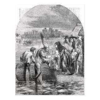 El vuelo de la reina de James II Tarjeta Postal