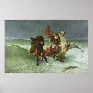 El vuelo de Mawr c.1884 de Gradlon Póster