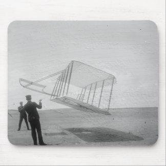 El vuelo de prueba de los hermanos de Wright Alfombrilla De Ratón