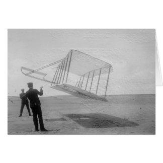 El vuelo de prueba de los hermanos de Wright Tarjeton