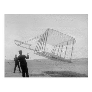 El vuelo de prueba de los hermanos de Wright Tarjeta Postal