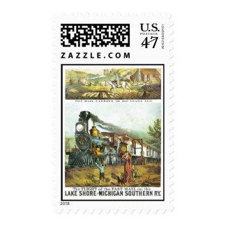 El vuelo del correo rápido sello postal