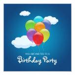El vuelo hincha la invitación de la fiesta de invitación 13,3 cm x 13,3cm