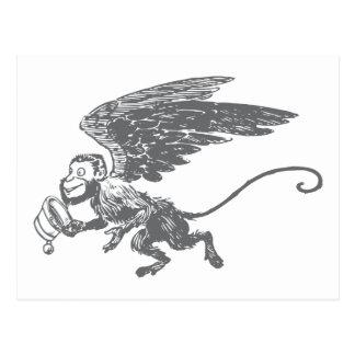 El vuelo Monkeys a la criatura de la fantasía del Postales