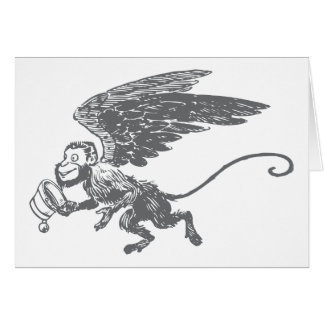 El vuelo Monkeys a la criatura de la fantasía del Tarjeta De Felicitación