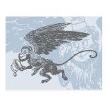 El vuelo Monkeys a la criatura de la fantasía del  Tarjeta Postal