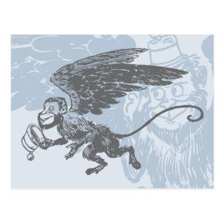 El vuelo Monkeys a la criatura de la fantasía del Tarjetas Postales