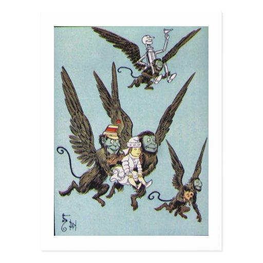 El vuelo Monkeys color Tarjeta Postal