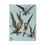El vuelo Monkeys color Tarjetas Postales