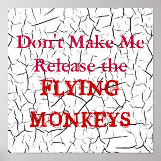 El vuelo Monkeys el poster Póster
