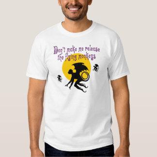 El vuelo Monkeys la camiseta Camisas