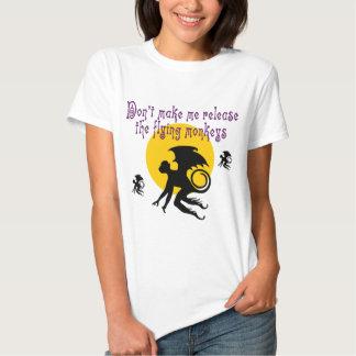 El vuelo Monkeys la camiseta Playeras