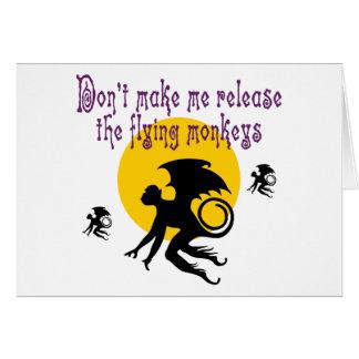 El vuelo Monkeys la tarjeta de nota