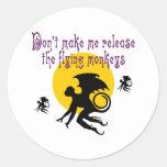 El vuelo Monkeys los pegatinas/los sellos del sobr