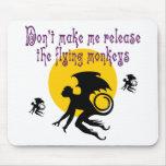 El vuelo Monkeys Mousepad Alfombrillas De Raton