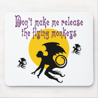 El vuelo Monkeys Mousepad Alfombrillas De Raton