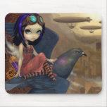 "El ""vuelo"" Mousepad del Poe Tapetes De Ratón"